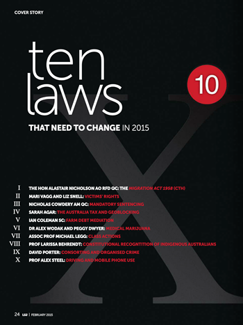 Ten Laws that need to change in 2015