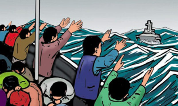 A  comic produced by Australia aimed at deterring asylum seekers. Photograph: customs.gov.au