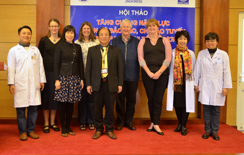 Professor Garry Warne AM travelled to Hanoi with Dr Anne Smith, Director of the Victorian Forensic Paediatric Medical Service (VFPMS) and her VFPMS colleague, Dr Andrea Smith.